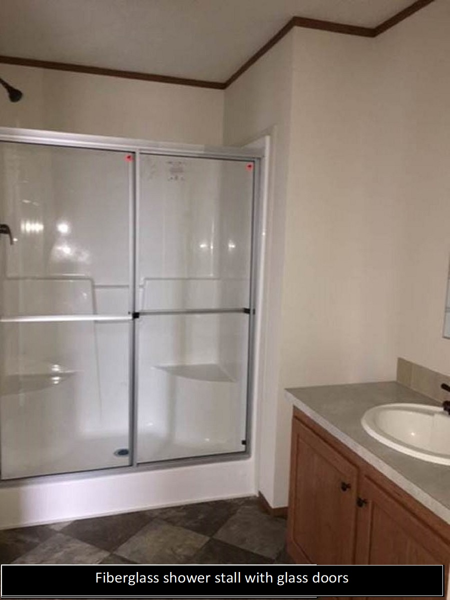 54 Inch Fibergl Shower With Gl