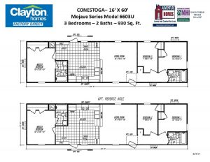 Single Wide, Single Section Mobile Home Floor Plans