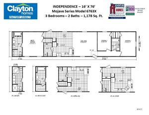 Single Wide, Single Section Mobile Home Floor Plans | Clayton
