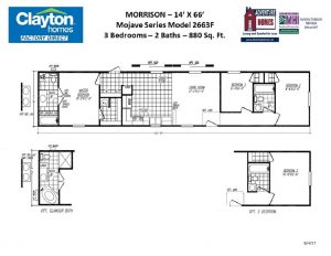 Single Wide, Single Section Mobile Home Floor Plans ... on clayton i house floor plan, clayton homes ali floor plan, clayton mobile home deck plan, clayton homes in al, clayton homes floor plans 4 bedrooms,