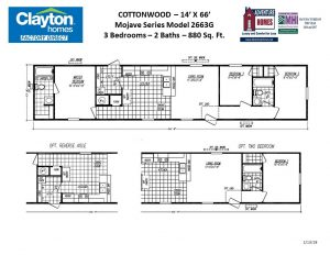 Single Wide Single Section Mobile Home Floor Plans Clayton