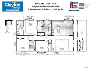 Multi Sectional, Multi Wide Mobile Home Floor Plans | Clayton ... on
