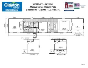 Single Wide, Single Section Mobile Home Floor Plans ... on clayton homes single wide mobile homes, clayton home floor plans house, clayton mobile homes floor plans, clayton double wide homes decorations,